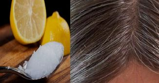 Genial! Ce se intampla cu parul grizonat daca aplici pe el ulei de cocos si lamaie!