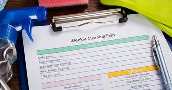 Plan pentru curatenia generala a casei. Ce trebuie sa faci zilnic, saptamanal si lunar