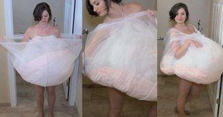 Au ras cand au vazut aceasta rochie de mireasa. Insa este genial ce se ascunde in spatele imaginii
