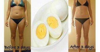 Slabeste 3 kilograme in 3 zile cu dieta cu oua