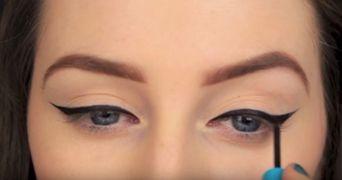VIDEO! Cum sa trasezi linia perfecta de tus! Ochii tai vor arata senzational!