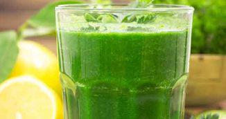 Limonada cu spanac pentru energie si slabire. Se consuma la micul dejun