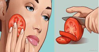 Foarte tare! Ce ti se intampla daca iti freci o felie de rosie proaspata pe fata!