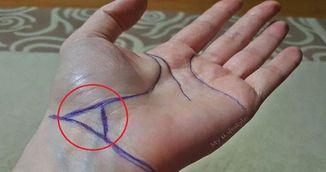Triunghiul de pe linia incheieturii este un semn de mare noroc.Tu ai unul?