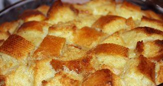 Budinca de paine pentru masa de Craciun - reteta care are gustul copilariei