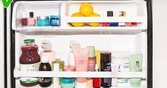 Si-a pus toate produsele de infrumusetare in frigider. Vei incerca si tu trucul asta simplu