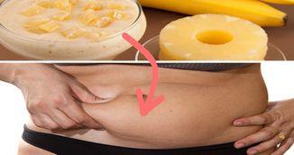 Bautura din banane si ananas te scapa instant de burta. Cum se prepara bautura minune