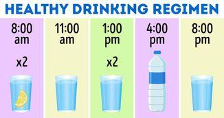 Cum sa bei apa corect. Acesta este programul pe care trebuie sa il respecti