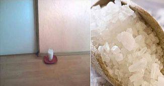 Adauga sare si otet intr-un pahar cu apa si pune-l in orice punct al casei tale! Uite ce se intampla dupa 24 de ore!